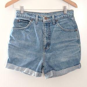Vintage Super High Waisted Denim Shorts